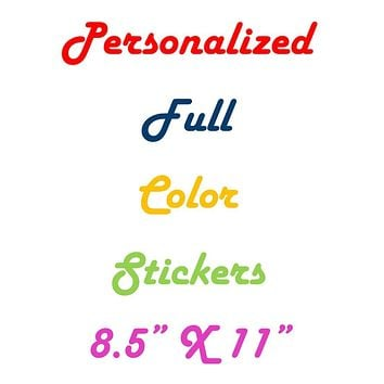 Full Color Personalized Stickers