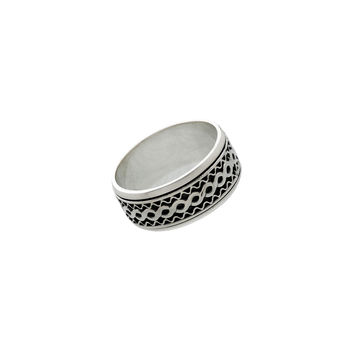 Alpha Infinity Sterling Silver Spinner Ring