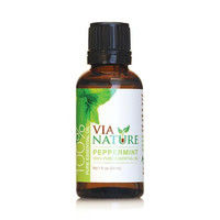 Via Nature Essential Oil - 100 Percent Pure - Peppermint - Single - 1 Fl Oz