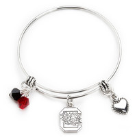 South Carolina Gamecocks Bangle Bracelet