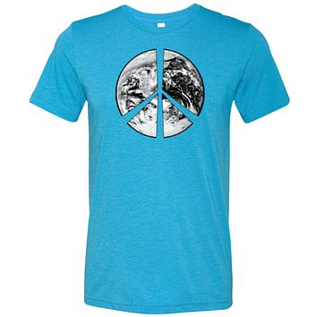 Buy Cool Shirts Peace T-shirt Earth Satellite Symbol Tri Blend Tee