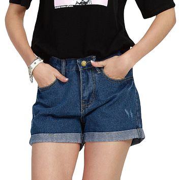 2017 Woman Shorts Sexy Ripped Denim Shorts for Student Girl Short Jeans Feminino Loose Curl Summer Shorts Large size 3XL 4XL 5XL