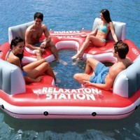 INTEX Pacific Paradise Relaxation Station Water Lounge 4-Person River Tube Raft:Amazon:Sports & Outdoors