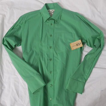Men's Classic Kelly Green Western Shirt