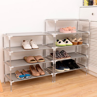 Shoe Cabinet Shoes Storage Organizer Shelf Non-Woven Fabric Shoe Holder Kitchen Furniture Stand Rack  Simple Combined