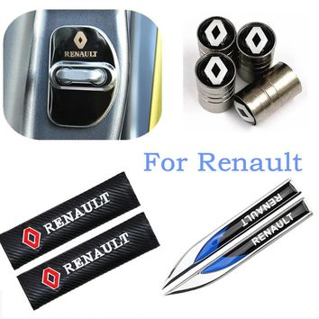 Car-styling badge car covers Door lock Emblems for Renault megane 2 scenic laguna 2 Captur fluence Latitude CLIO car styling