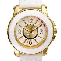 Juicy Couture 'Pedigree' Ceramic Bezel Jelly Strap Watch