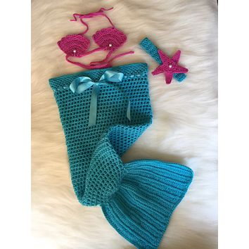 Handmade Mermaid Crochet Baby Costume