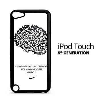 Just Do it Thinking Brain iPod Touch 5 Case
