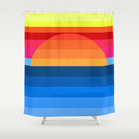 Sunset Soon Forgotten Shower Curtain by Pop E. Carp