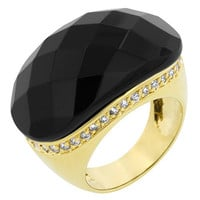 Black And Gold Cocktail Ring