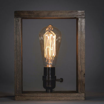 Edison Shadow Box lamp