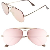 Ray-Ban 61mm Mirrored Lens Aviator Sunglasses | Nordstrom