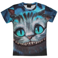 Alice in Wonderland cheshire cat's face women's t-shirt