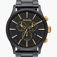 Nixon Sentry Chrono Watch Matte Black One Size For Men 25836518201