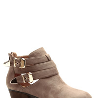 Deserted Style Taupe Chunky Booties