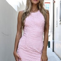 Barbados Beauty Pink Lace Dress