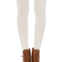 Anya Thigh High Socks - Ivory