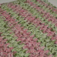 Super Soft Pink and Green Dishcloth/Washcloth Soft enough to Wash Baby