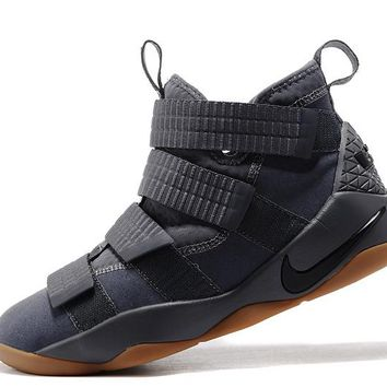 Best Deal Online Nike LeBron Soldier 11 Gray Men Basketball Sneakers Sports Shoes