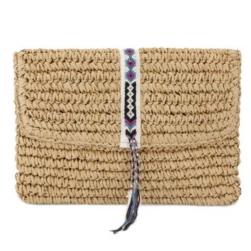 Fallon + Royce - Straw Clutch Bag