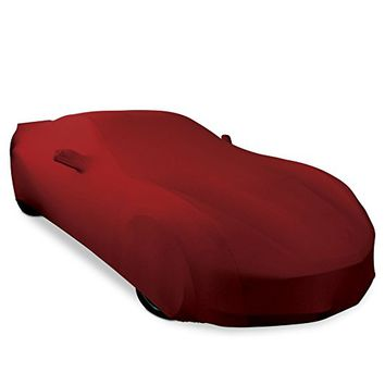 2005-2013 C6 Corvette Indoor Ultraguard Stretch Satin Car Cover (Dark Red)