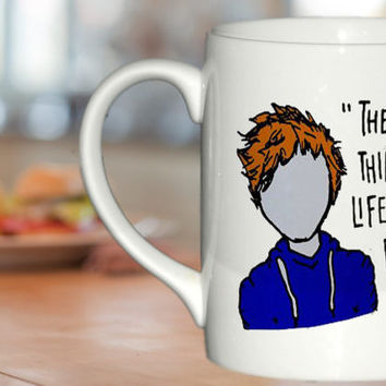 ed Sheeran The A Team Lyric Cartoon  custom cup for family and friends mug