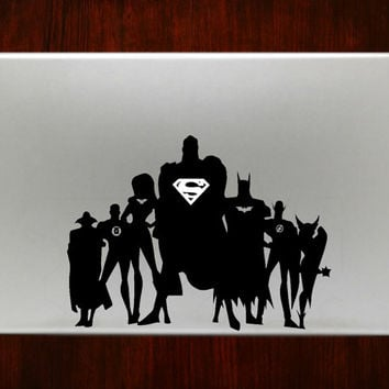 """Justice league m368 Decal Sticker Vinyl For Macbook Pro Air Retina 13"""" 15"""" 17"""" Inch Laptop Cover"""
