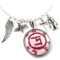 Damnit Cas: A Castiel / Supernatural Charm Necklace