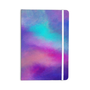 "Viviana Gonzalez ""ABSTRACT 02"" Purple Blue Everything Notebook"