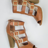 Buckled Heels in Chestnut