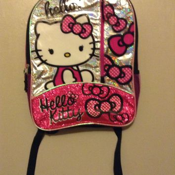 Hello Kitty Backpack girls back to school senario sparkles cute pink glitter HK