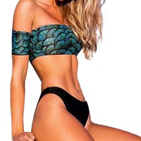 2 Piece Off the Shoulder Bathing Suit-Ships from The USA