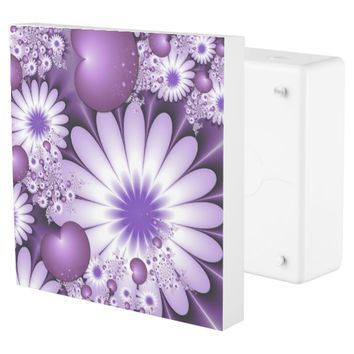 Falling in Love Abstract Flowers & Hearts Fractal Outlet Cover