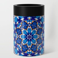 Abstract Mandala Pattern Can Cooler by tmarchev