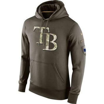 Tampa Bay Rays Nike MLB Salute To Service Pullover Hoodie