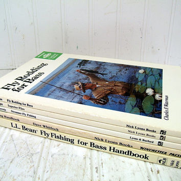 Fly Fishing Books Set of 5 Paperbacks from Nick Lyons Pub. Books - Fly Fishing & Rodding for Bass Fly-Fishing Handbook Collection of 5 Books
