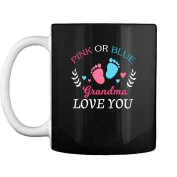 Cute Gender Reveal Party Grandma Pink or Blue Mug