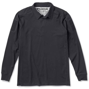 Mission Critical Designs Cannae Professional Operator Long Sleeve Polo Shirt Black XL CPG-APS-PLC-XLB