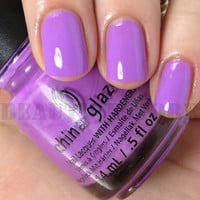 China Glaze Nail Lacquer (81322 - THAT'S SHORE BRIGHT) Sunsational Cremes 1215