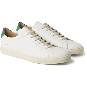 Common Projects - Achilles Leather Sneakers   MR PORTER