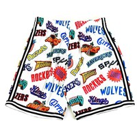 Mitchell & Ness All Over Western Shorts in White