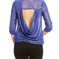 2B Sparkle Ana Open Back Shirt