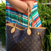 Authentic Used Louis Vuitton Neverfull MM in Monogram