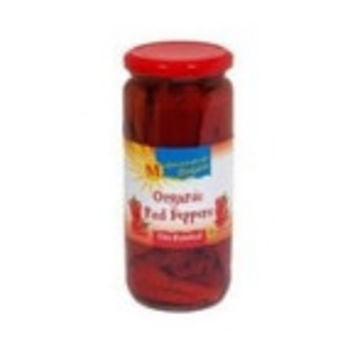Mediterranean Organics Roasted Red Peppers -12x16 Oz-