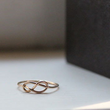 14k Gold-Filled Rustic Infinity Ring - Unique Rings