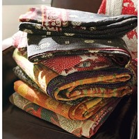PB Found Authentic Kantha Throw