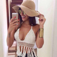 Halter Knitted Crop Top