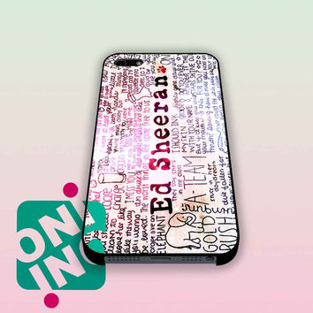 Ed Sheeran Quotes on Galaxy iPhone Case Cover | iPhone 4s | iPhone 5s | iPhone 5c | iPhone 6 | iPhone 6 Plus | Samsung Galaxy S3 | Samsung Galaxy S4 | Samsung Galaxy S5