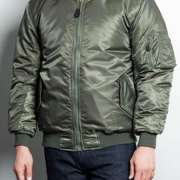 Men's Reversible Padded Bomber Flight Jacket MXMBJ - E12H